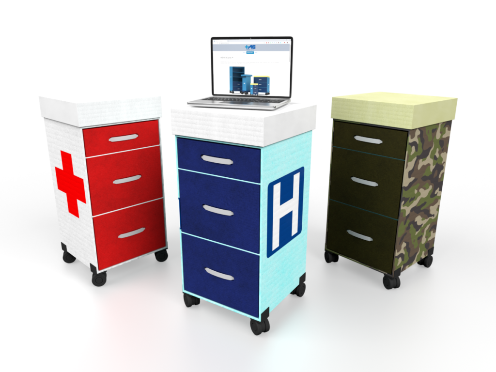 HEROCart Disaster Emergency Response Bedside Cart Family