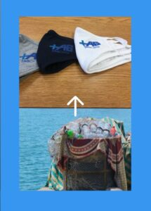 TAGCarts procures and distributed hundreds of face masks made of recycled water bottle plastics.